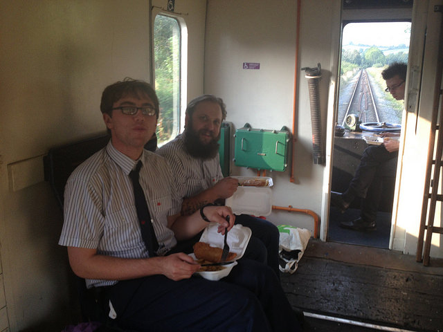 Fish & Chips on the train